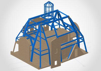 Haupttragkonstruktion für Dachaufstockung