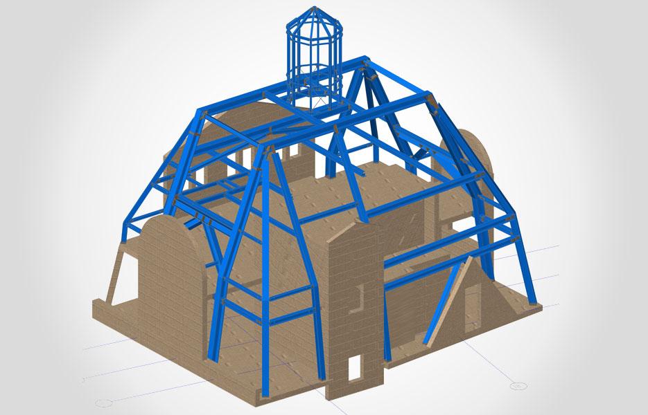 Haupttragkonstruktion für Dachaufstockung - NEUTRO Zeichnungsbüro