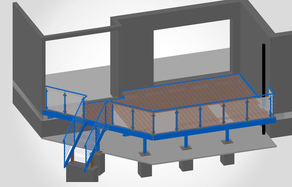 Terrassenkonstruktion - NEUTRO Zeichnungsbüro
