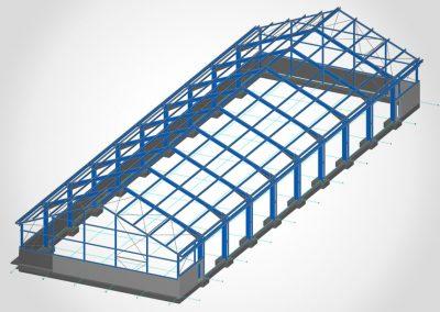 Neubau einer Halle – 60 m x 19,6 m x 9,5 m