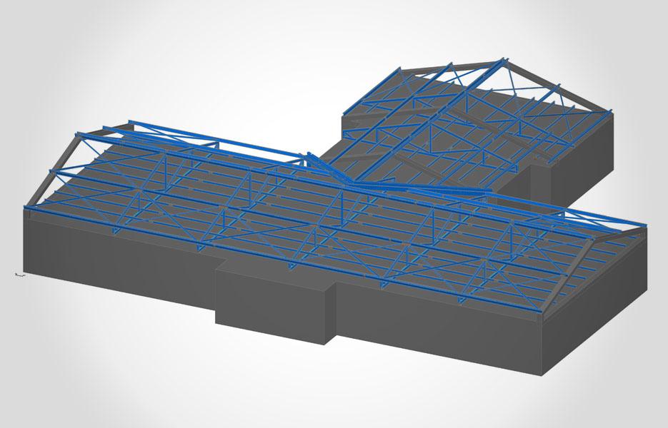 Dachkonstruktion in Sembach - NEUTRO Zeichnungsbüro