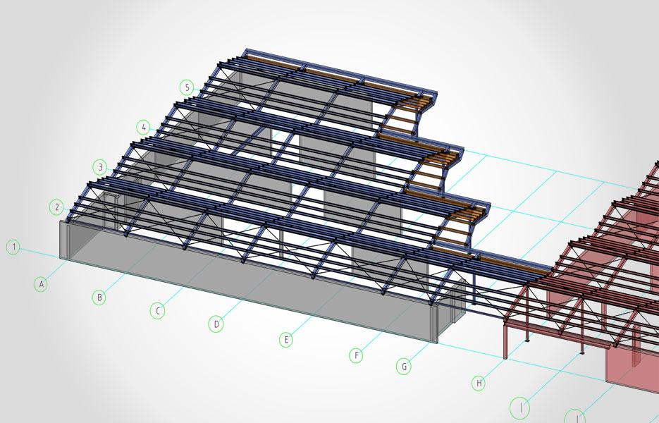 Dachkonstruktion Kinderhaus - NEUTRO Zeichnungsbüro