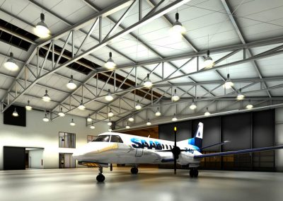 Neubau eines Flugzeughangars im Breisgau