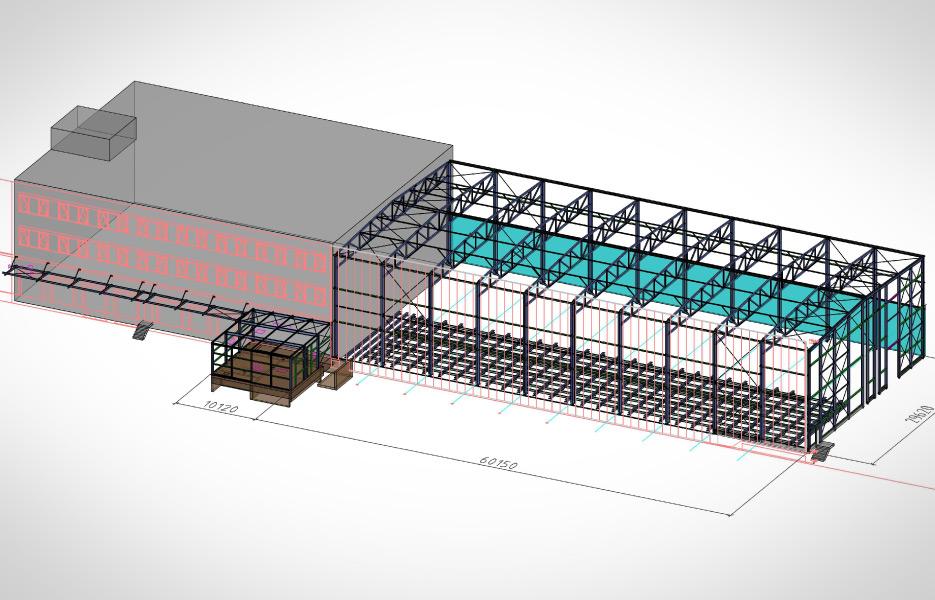 Neubau einer Lagerhalle - NEUTRO Zeichnungsbüro