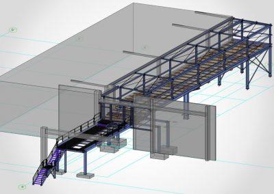 Stahlkonstruktion für Palettenförderanlage